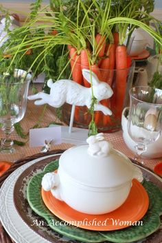 Okay, I had this crazy idea for a centerpiece…. A bunch of carrots! You should have seen the grocer's face when I asked him how l. Hoppy Easter, Easter Bunny, Centerpieces, Table Decorations, Easter Centerpiece, Spring Decorations, Easter Table, Easter Decor, Easter Ideas