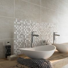 SDB floor, behind furniture mosaique_mur_mystic_gris_argent - Bathroom Goals, Bathroom Inspo, Bathroom Inspiration, Small Toilet Room, Mosaic Bathroom, Modern Ranch, Bathroom Toilets, Bath Linens, Modern Bathroom Design