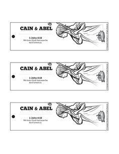 Cain and Abel Bible Bookmarks: These story of Cain & Abel Bible bookmarks are a fun Sunday school craft that tie in perfectly to the Genesis 4 Cain and Abel lesson. Sunday School Activities, Bible Activities, Sunday School Lessons, Sunday School Crafts, Bible Story Crafts, Bible Stories For Kids, Bible Lessons For Kids, Grace Christian, Christian Church