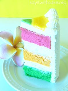 Hawaiian Paradise Cake Yummy Hawaiian Paradise layer cake with layers of guava, passion fruit, and lime chiffon cake filled with whip cream cream cheese frosting Cake Recipes, Dessert Recipes, Baking Recipes, Cupcake Cakes, Cupcakes, Chiffon Cake, Let Them Eat Cake, Vanilla Cake, Sweet Tooth