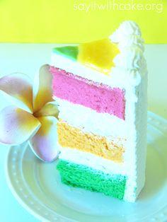 Kings Hawaiian copy cat- POG cake. One day I'll try to make it