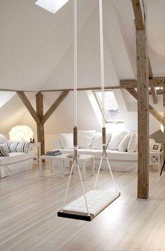 Witte kamer met eiken balken