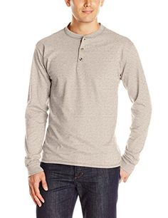 YUNY Mens Long-Sleeve Raglan Pullover Ruffle Solid Colored Silm Fit Tees Top Gray L