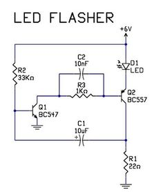 #LEDFlasherCircuit is an electrical circuit used to power a light-emitting diode.