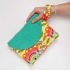 Crasty Flap/ Alfa / Summer pouch bag for her in a floral