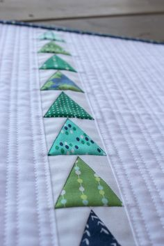 Straight line quilting: always a favorite. Like the spacing.  States of Matter Inspired Mini Quilt