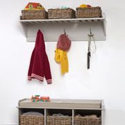 Shop children's storage furniture with free returns! Choose from a range of toy storage ideas, including cube storage, toy boxes, bookcases and more. Toy Storage Bench, Cube Storage Unit, Kids Storage, Wall Shelf With Hooks, Wall Shelves, Childrens Coat Hooks, Boot Room Utility, Hallway Walls, Hallways