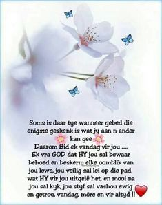 Gebed is ń geskenk aan ander. Bible Scriptures, Bible Quotes, Afrikaanse Quotes, Goeie Nag, Goeie More, Thank You God, Special Quotes, Jesus Loves You, Daily Prayer