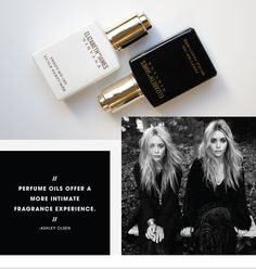 ASHLEY OLSEN AND MARY-KATE OLSEN ON ELIZABETH AND JAMES NIRVANA PERFUME OIL - The #Sephora Glossy gets the story on the sensorial new way to experience euphoria from the designer duo>
