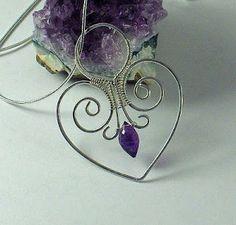 de Cor s Handmade Jewelry  Wire Jewelry Tutorial  Heart Pendant Beaded  Jewelry 6891b3c05c9