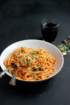 Smoky Tomato Almond Pasta Sauce by Happy Hearted Kitchen // tested and approved!