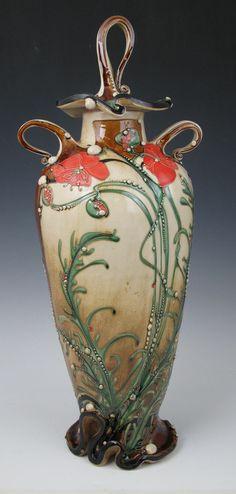 carol  long art | Lidded Jars - Carol Long Pottery