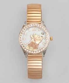 Take a look at this Rose Gold Winnie the Pooh Expansion Watch by Winnie the Pooh on #zulily today!