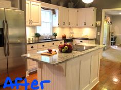 After I painted the cabinets with chalk paint...