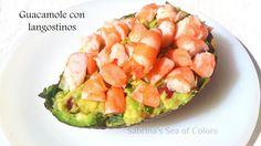 Guacamole con langostinosHola! Hoy traigo una receta sana y deliciosa. Yo no se a vosotros, pero el aguacate es para mi una fruta muy versátil, además aporta gr