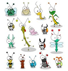 Cartoon insects vector 189023 - by Bastetamon on V. - - - Cartoon insects vector 189023 – by Bastetamon on V… – Bella Cartoon Insekten Vektor 189023 – von Bastetamon auf V … – # Bastetamon Doodle Art, Doodle Drawings, Easy Drawings, Cartoon Faces, Cartoon Drawings, Animal Drawings, Art Fantaisiste, Happy Paintings, Whimsical Art