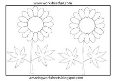 Preschool tracing worksheet