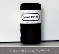 Black Solid Divine Twine 20 yards by sofiejack on Etsy