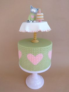 Kitten in a Jumper on a Table on a Cake! by peggypal, via Flickr