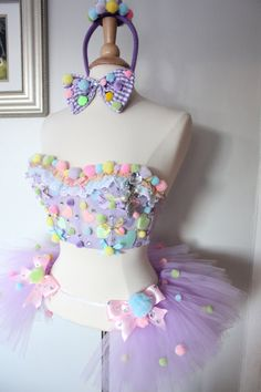 195Hey, I found this really awesome Etsy listing at https://www.etsy.com/listing/180597399/pastel-clown-rave-costume-custom-bra-set