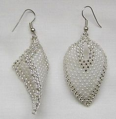 beaded earrings patterns free - Google Search