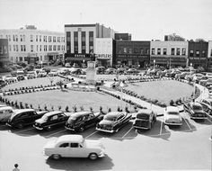 The square in downtown Gainesville. Circa 1955. #tbt #gainesvillega #jrcriders #peachstatepride #staysouthern