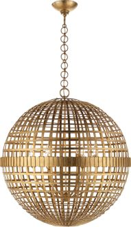 MILL CEILING LIGHT in Gilded Gold. Also avail in Burnished Silver Leaf, Aged Iron and Plaster White from Circa Lighting.