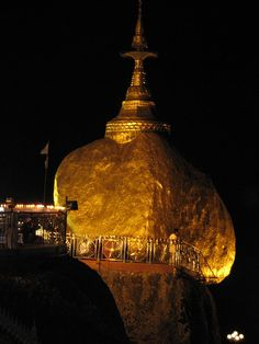 #Travelplaces in #Asia #GoldenRock #KyiteHteeYoe #Myanmar #tourism #travel