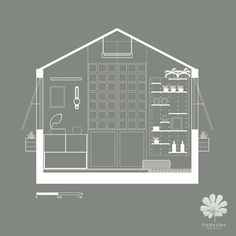 Projeto varanda - corte desenho Floor Plans, Balcony, Log Projects, Dibujo, Floor Plan Drawing, House Floor Plans