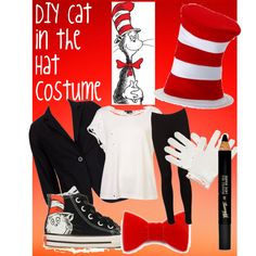 """DIY Cat in the Hat costume"" by behappy4ever on Polyvore"