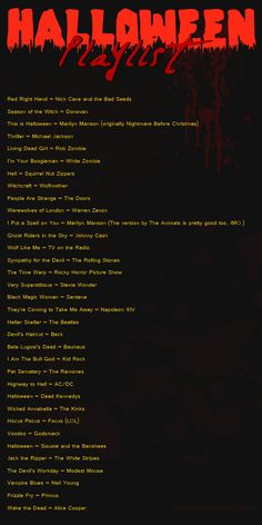 Rock Halloween Playlist