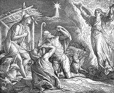 Bilder der Bibel - Verkündigung der Geburt Christi an die Hirten