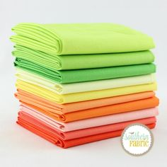 Cotton Supreme Solids - Half Yard Bundle (RJR.CS.10HY) by RJR Fabrics for RJR Fabrics