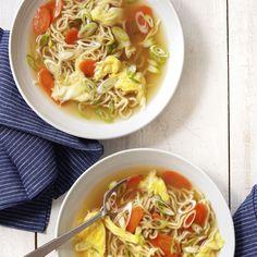 Egg-Drop Noodle Soup  - CountryLiving.com
