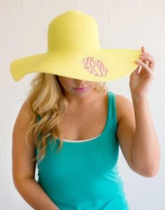 0bf447bc4cc Monogrammed Floppy Sun Hats in 8 Colors - BeauJax Boutique A