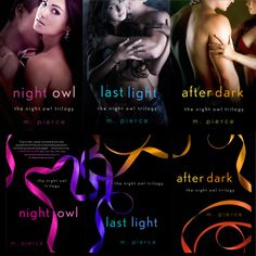 Night Owl Trilogy covers, e-book (top) and paperback (bottom). Designer: Kerri Resnick. ST. MARTIN'S PRESS