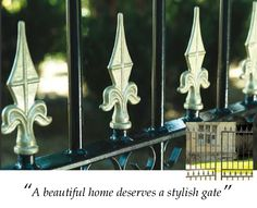 Every home deserves a little attention to detail. Gate Images, Side Gates, Wrought Iron Gates, Tower, Detail, Rook, Computer Case, Building