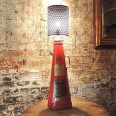 Classic Fire Extinguisher Lamps by ReUpCycled   Please subscribe to my weekly newsletter at upcycledzine.com ! #upcycle