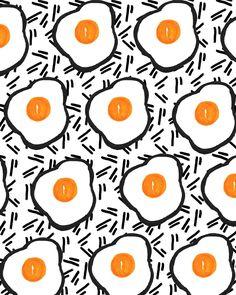 Art Prints featuring Eggs by Bouffants and Broken Hearts Textile Patterns, Color Patterns, Print Patterns, Textiles, Pattern Print, Pattern Texture, Poster Art, Web Design, Egg Art