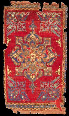 Turkish and Islamic Arts Museum Star Ushak rug, XVII (17th) century, Turkey, Ottoman Empire