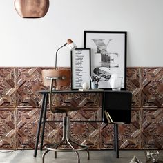 """THIS IS WALLPAPER!!! """"Antique Tin Tiles"""" by KOZIEL -Victorian style-"""