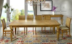 Conjunto de Mesa com 8 cadeiras Canela e Lille