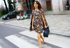 Alexa Chung at Milan Fashion Week | Photo by Tommy Ton