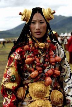 Tibetaans - traditionele kleding
