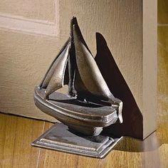 Egyptian Revival Patinated Cast Metal Sphinx Door Door Stops