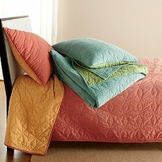 Lofthome By The Company Store® Reed Quilt in reversable aqua/lime| The Company Store
