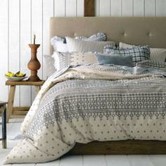 Hellenic quilt covers by Linen House at Adairs. Adairs Quilt Covers and bed linen. Discount Linen House Hellenic at Adairs