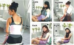 heating pads are great for sore limbs, also place on your head while using leave-in oils and conditioners.