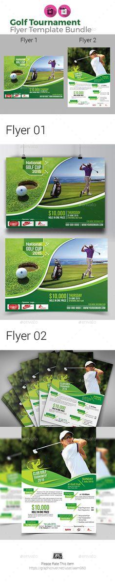 Golf Tournament Flyers Bundle - Sports Events
