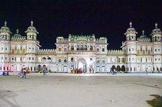 Night view of Janaki Temple at Janakpur the birth place of Sita. . .  By Krishna Mandal